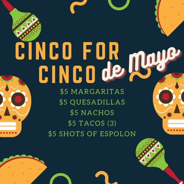 ARRIBA! Join us for Cinco de Mayo specials all day at the lanes or in the cafe!